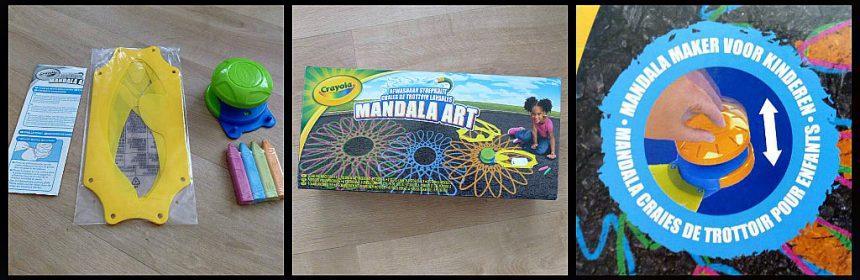 Crayola Mandala Art Stoepkrijt kleuren mandala tekenen sjablonen sjabloonhouder apparaat drukken versrpringen patroon patronen kleuren helder speelervaring buiten spelen gewenning gereinigd fans straat buurtkinderen kinderen kids verwisselen creatief recensie review