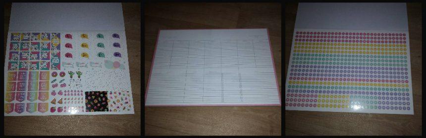 Flower & Birds Bureauplanner buro kalender maand week datum stickers stickervellen plaatjes koffieongelukken vellen notities to do lijstjes boodschappen recensie review