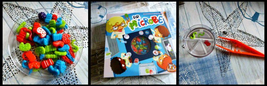 Dr. Microbe Familiespel White Goblin Games spelletje familiespel petrischaal microben bacterie kleuren kaarten speeltijd fanatiek ronde recensie review
