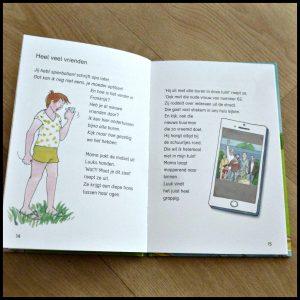 Hoera, Ik kan Lezen! Grapjes Hieke van der Werff De Vier Windstreken Leren Lezen AVI E4 niveau leesboek tekeningen selfies telefoon smartphone bewerken recensie review