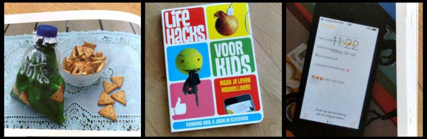 Life Hacks voor Kids Maak je leven makkelijker Raymond Krul Jasmijn Stegeman kinderboeken tips handig praktisch YouTube humor register boekje recensie review