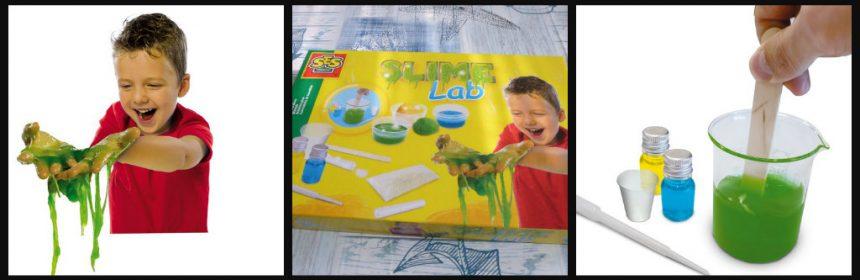 SES Slime Lab SES Creative slijm maken zonder borax zonder lenzenvloeistof geen boraxhoudende ingrediënten veilig psyslliumvezels bloem maïzena poeder glitter kleurstof pipetjes bakjes magnetron verwarmen heet water koelkast bewaren gebruiken pakket 8+ recensie review