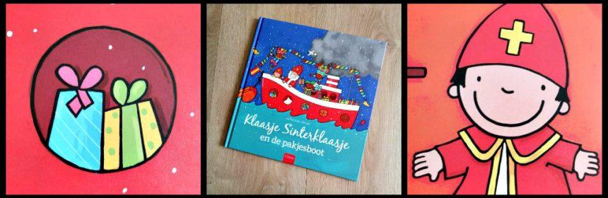 Klaasje Sinterklaasje en de pakjesboot Kathleen Amant prentenboek Clavis peuters kleuters droom mantel mijter sneeuw boot pakjesavond grappig tekeningen herkenningspunten Sint recensie review