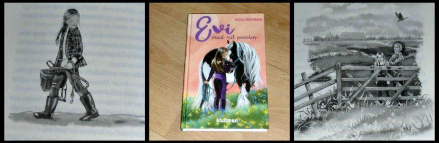 Evi praat met paarden Nicolle Christiaanse Zelf Lezen Voorlezen Kluitman pony's paarden paardenfluisteren verzorgpony's dieren buren stal verzorgen recensie review