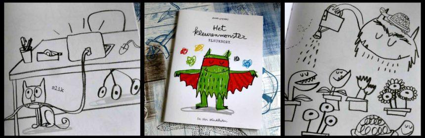 Het kleurenmonster Kleurboek prentenboek Anna Llenas kleuren emoties De Vier Windstreken kinderen succes gevoelens kalm blij verdrietig boos bang gelukkig herkennen klas kindertherapie praktijk interactief recensie review