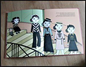 Van klein tot groots: Coco Chanel Isabel Sánchez Vegara boekenreeks serie De Vier Windstreken tekeningen tekst zangtalent vormen patronen naald draad wereldgeschiedenis vrouwen parfum korsetten lievelingsboek foto's recensie review