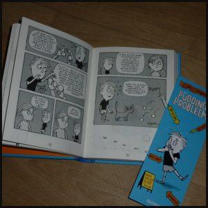 Lars Leugenaar: Het puddingprobleem Joe Berger Zelf Lezen Kluitman graphic novel tekening strips liegen leugentjes waarheid grapje grappig recensie review fantasie verhalen eerlijk twijfelen