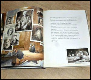 Edison Torben Kuhlmann prentenboek De Vier Windstreken avonturen Lidbergh Armstrond tekeningen spannend schat detail begrijpelijk gloedlamp uitvinding jong en oud boekenreeks serie recensie review