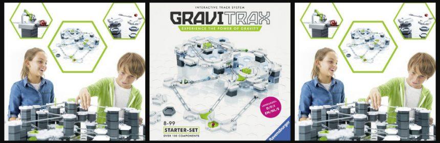 GraviTrax Starter Set uitbreiding pakket knikkerbaan kogelbaan rails grondplaten niveau bouwen fantasie kanon ontwerpen bouwelementen parcours kogels speelplezier speciale effecten twist hit uitbreiden werking recensie