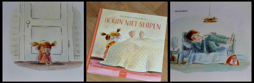 Ik kan niet slapen Elsa Devernois prentenboek Clavis herkenbaar droom slapen bed glimlach tekeningen nachtmerrie kinderen recensie review