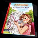 Dol op lezen! De pony van Roos Leren Lezen Rüdiger Bertram Lisa Brenner tekeningen korte zinnen letterformaat roze broek rijbroek manege buitenrit optocht paarden eigenaar pony wei avontuur leesboek aantrekkelijk serie recensie review
