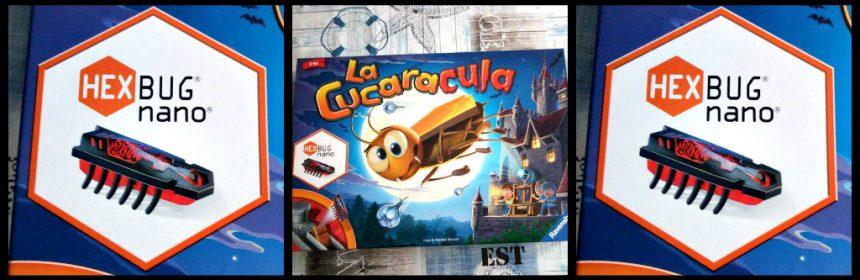 La Cucaracula Ravensburger bordspel doolhof kakkerlak 6+ La Cucaracha Loop maanwand katapult pionnen kaarsenfiches schieten familiespel speelduur fase spelervaring recensie review
