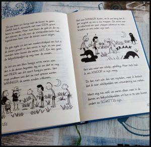 Het leven van een loser 12: Wegwezen Jeff Kinney De Fontein zelf lezen graphic novel tekeningen illustraties tekst boekenreeks serie Bram Botermand gelachen paradijs vakantie aanrader jeugd eiland vakantiepark nachtmerrie ramp vliegtuig hindernissen recensie review