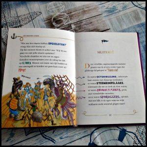 Avonturen in Fantasia 6: Red het kabouterrijk Geronimo Stilton De Wakkere Muis cover meisjesachtig verhaal jongens piraat monsters feeënkoningin kabouterkoningin spannend belevenissen avontuur lettertypen speels illustraties tekening luchtschip piratenpret puzzels kompas maken overzichtskaart Fantasia meisjes recensie review