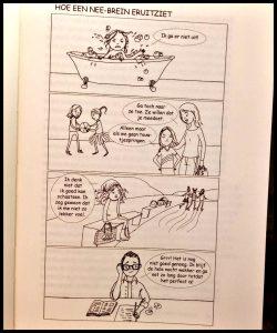 Het Ja-brein Moed, nieuwsgierigheid en veerkracht bij je kind stimuleren Daniel J. Siegel Tina Payne Bryson Scriptum psychologie opvoeden kinderen reactief nee-brein gevoelens innerlijk kompas speel vrolijk schommel wereld leeftijd zoon dochter proberen stimuleer ouder angst geïnteresseerd leer ervaren spannend wennen begrijpelijk voorbeelden praktijk illustraties tip effect beeldverhaal stripjes laagdrempelig bewegen slapen spelen ontspanning aandacht evenwicht gestress recensie review