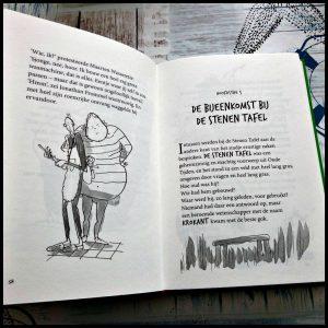 De verschrikkelijke meneer Gom en de aardmannetjes Anndy Stanton Zelf Lezen Lannoo zwaarden trollen heksen humor grappen avonturen illustraties boekenreeks hoofdpersoon speels kinderen fantasie taalgebruik verhaal dubbelzinnigheid personages gelachen gekkigheid recensie review