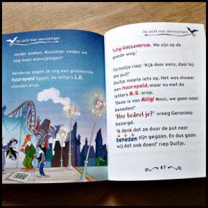 Griezelen in de achtbaan ML Makkelijk Lezen Boek AVI M5 De Wakkere Muis Geronimo Stilton tekeningen origineel familie Duistermuis kapsalon avontuur kermis moeilijkheden speels serie recensie review