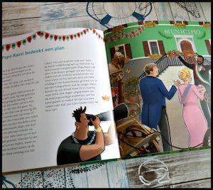 Opa en Oma Oelewapper Op reis met de Gouden Koets Marianne Busser Ron Schröder prentenboek Moon Uitgevers koning koningin verzoek helpen geheim luisteren reis Italië fotografen achtervolgen foto's grappig spannend verhaal uitgelezen gedetailleerde tekeningen beeldvorming kast recensie review fan