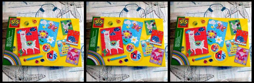 SES Filigraan Sticker Kaarten knutselen SES Creative vrolijke prints kaarten dieren plakkant strookje papier filigraanpen rolt opgerold rondjes druppelvormig gaaf klus resultaat oudere kinderen vakantie regenachtige zondag recensie review
