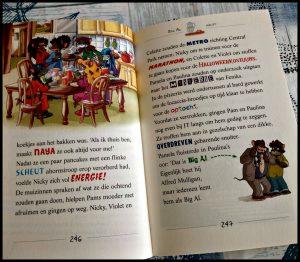Van Parijs naar New York Thea Stilton Zelf Lezen De Wakkere Muis verhalen schrijfstijl lezen spanning verhalen auteur avontuurlijk stoere dames uitgenodigd Topford verrassing Thea Sisters marathon familieleden pizzeria dreigbrief winkels mysterie dief boef Parijs New York recensie review