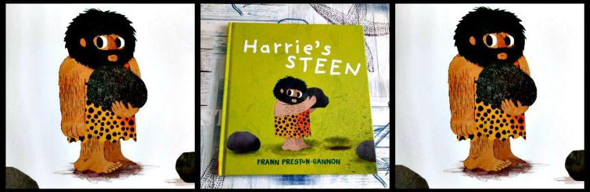 Harrie's steen Frann Preston Gannon prentenboek Flamingo holbewoner Harrie's Hol snel mooi idee spel vrienden blij jongste kinderen lezen woorden zinnen vloeiend allerkleinsten praten manier tekeningen beeld verhaal recensie review