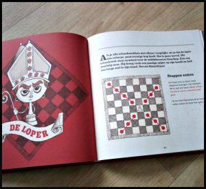 Schaakmat Hervé Debaene Lannoo hobby kinderen leren speels boek stappen schaakmat verdedigen schaakstukken schaakbord toren kastelen koningen illustratie pijlen stippen origineel begrijpen antwoorden vragen middeleeuwen spelletje spel schaken begrijpen spelen stappen schaakkampioen recensie review
